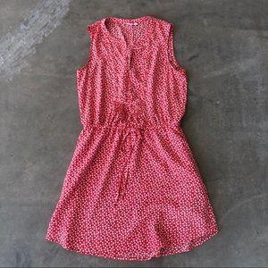 GAP | women's soft red/pink floral dress